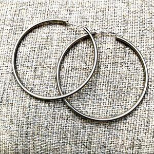 """925 Silver 2"""" Hoop Earrings"""